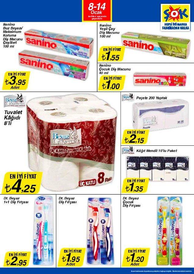 Son zamanların en çok zam gören hazır tüketim ürünlerinden 8'li tuvalet kağıdının şu anki ortalama fiyatı 23 TL