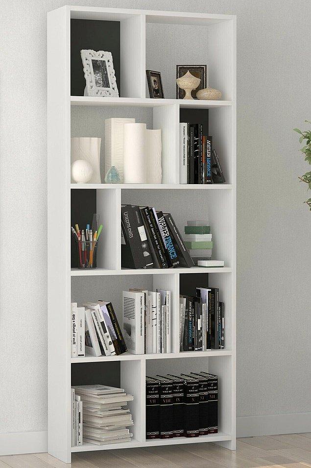9. Kitaplarınızı sığdırmak için daha büyük bir kitaplığa ihtiyacınız varsa buraya alalım.