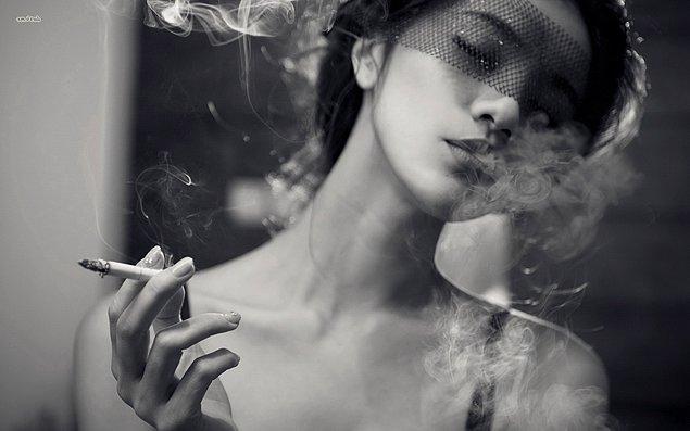 2. Sigara kullanımında kadınların oranı erkeklerin yaklaşık dörtte biri.