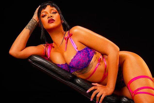 6. Kendisinden yeni şarkı beklerken ısrarla yeni iç çamaşırı koleksiyonu çıkaran Rihanna, yine hepimizi mahvetti...