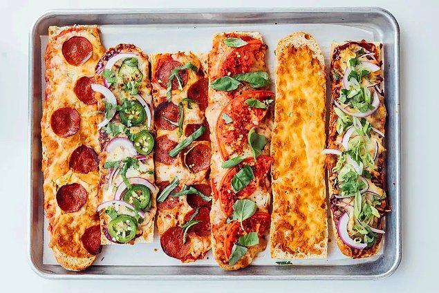 Dilediğiniz malzemelerle ekmek pizza