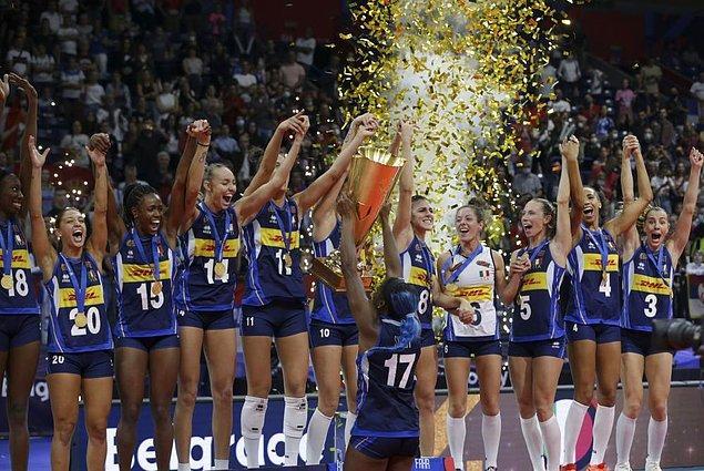 2. Kadınlar voleybolda Avrupa şampiyonluğu 🏆