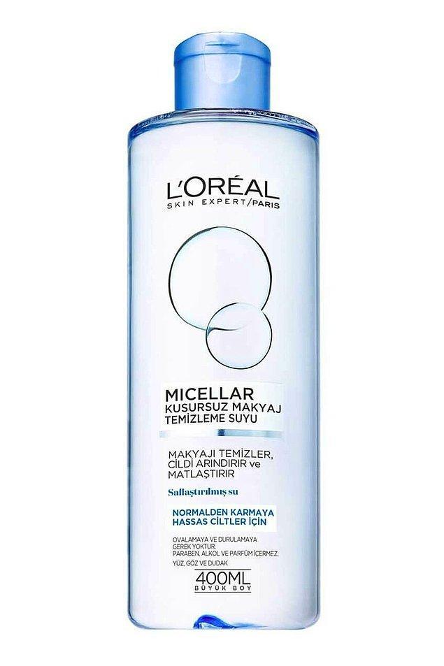8. Loreal makyaj temizleme suyu, indirimdeyken en çok satılanlardan biri.