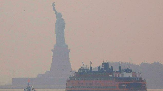 9. New York'ta son yıllardaki en yoğun hava kirliliği ölçüldü.