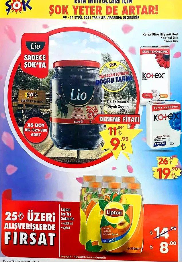 25 TL ve üzeri alışverişlerinizde Lipton Ice Tea Şekersiz 6x330 L 8 TL.