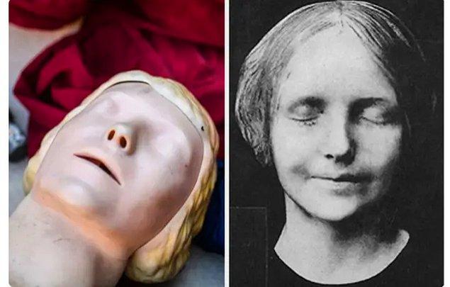 9. İlkyardım eğitimlerinde kullanılan cansız mankenin yüzü, 16 yaşındaki ölü bir kıza ait.