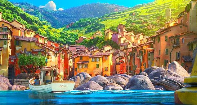 12. Luca filminde Pescheria isimli sokağın yanında Via Vernezza yer alıyor. Vernezza ise bu kurgu şehrin baz alındığı gerçek İtalyan şehri.