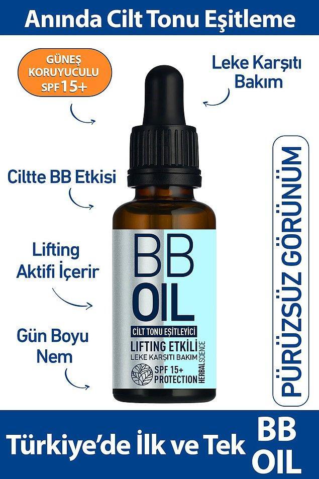 3. Herbal Science BB Oil cilt tonu eşitleyici