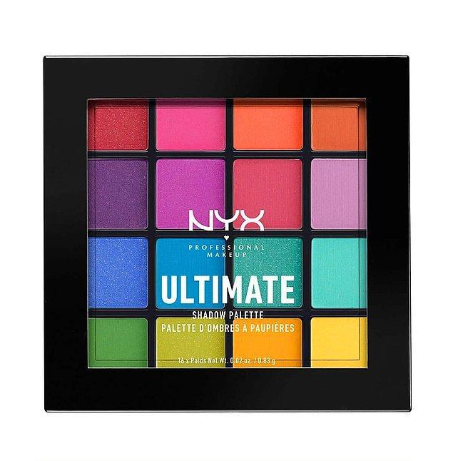 11. NYX Professional Makeup Ultimate Shadow Palette Brights göz farı paleti