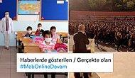 Okullardaki Kalabalığa İsyan Eden Öğrenciler, Sosyal Medyada #MEBOnlineDevam Dedi...