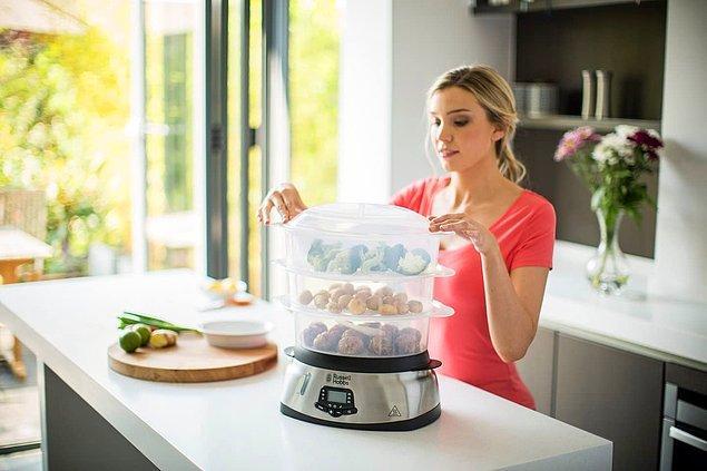 5. Sebzeleri suda haşlamak yerine buharda pişirin.