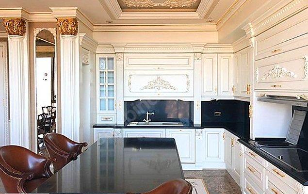 Mutfağına her bir detayından gösteriş akıyor dairemizin.