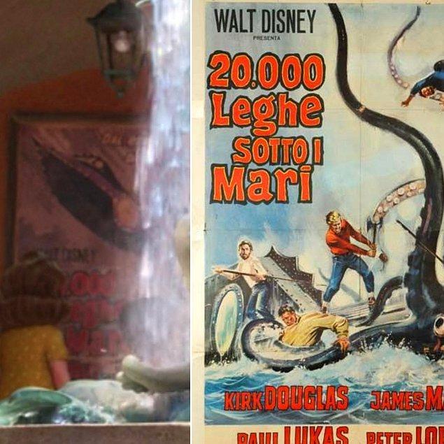 17. Walt Disney'nin 1954 yapımı animasyonunun afişi, Luca (2021) filminde göze çarpıyor.