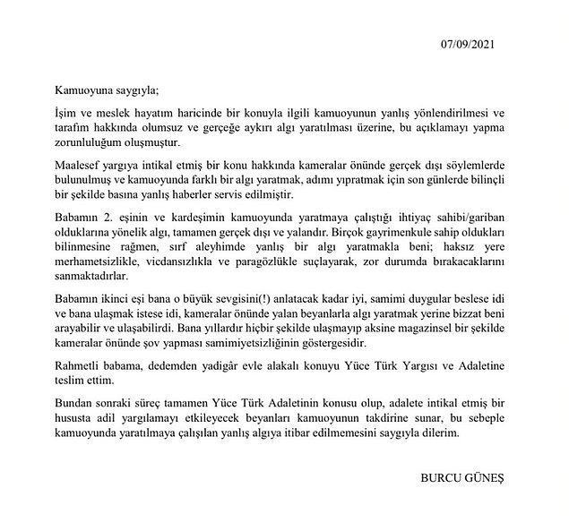 8. Burcu Güneş, babasının Antalya'daki evini üstüne geçirdiği iddiasıyla üvey annesine dava açtığı haberlerine cevap verdi!