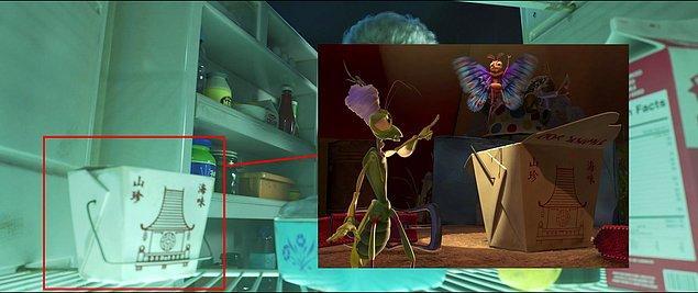 21. Toy Story 4 filmindeki Çin yemeği kutusu aslında Bir Böceğin Yaşamı (1998) filmindeki kutu.