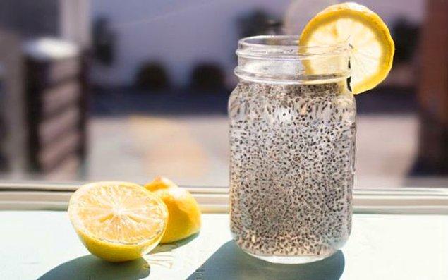 3. Chia ve limon karışımı