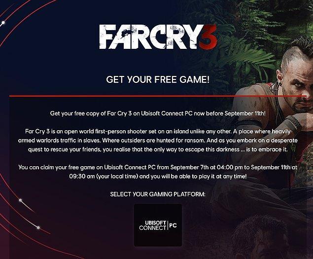 Far Cry 3 nasıl ücretsiz alınır?