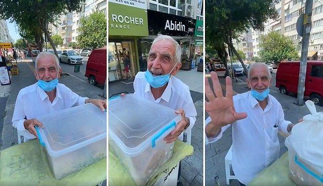 Muammer amcayı sosyal medyada paylaşarak tanışmamızı sağlayan, İzmir'in Gurmesi Emre o amcayı nasıl bulacağımızı da bu şekilde yazdı: