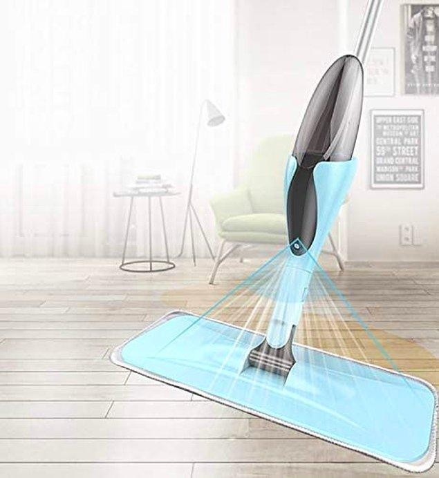 16. Yeni nesil mikrofiber sprey mop ve bez temizleme fırçası!👌
