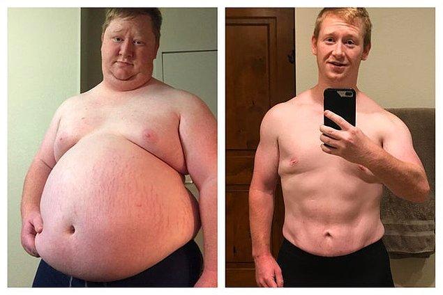 """1. """"Diyet ve yürüyüşle bir senede 90 kilo verdim. Ardından da diğer insanların gözleri önünde spor yapma korkumu yendim!"""""""