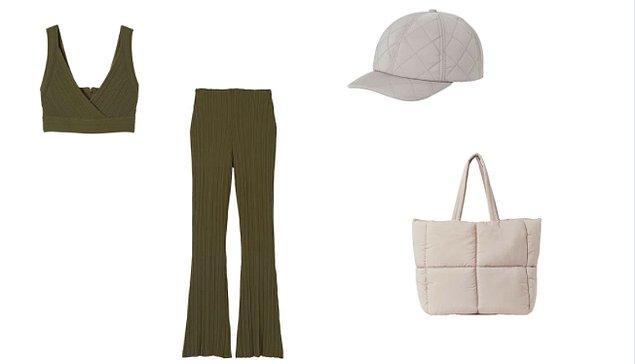 Shopper çantayı triko bir takım ile kombinleyerek havana hava katmalısın!