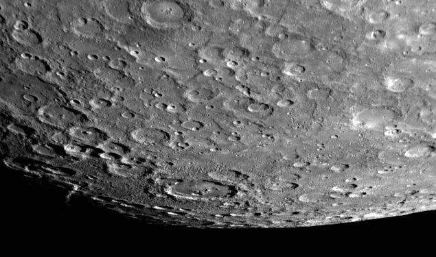 Merkür'ün güney kutbu ilk olarak 21 Eylül 1974'te fotoğraflandı.