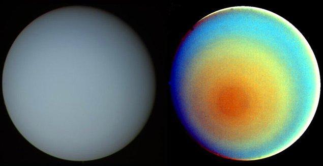 Uranüs'ün güney kutbu iki farklı görünüme sahip.