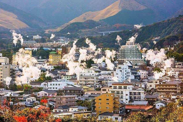 Japonya'nın Beppu şehrinde yaşanan bu olay akıl dışı olduğu kadar ürkütücü...