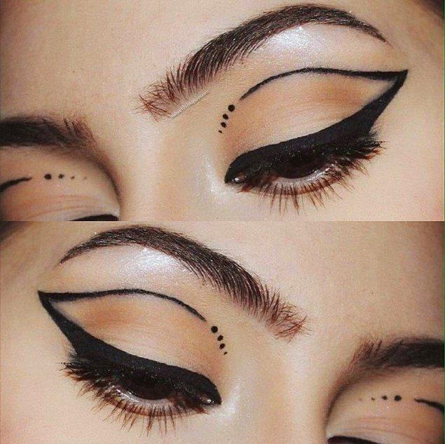 9. Abartılı eyeliner/göz farı