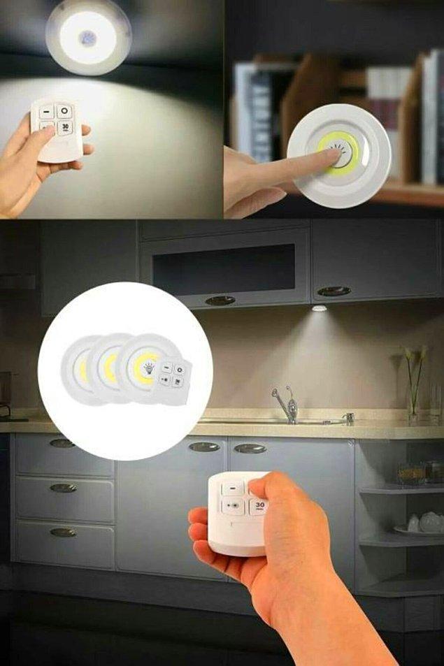 1. Mesela bu uzaktan kumandalı spot lamba size çok yardımcı olacak.