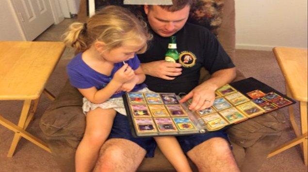 6. Kızı Pokemon'u anlatmasını istediğinde heyecanlanan ve çocukluğuna dönen babanın ne kadar hevesli olduğuna bakın: