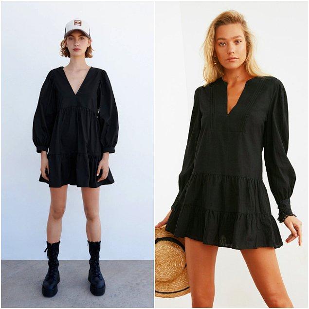 1. Zara'da 260 TL olan elbise Trendyolmilla'da sadece 72 TL