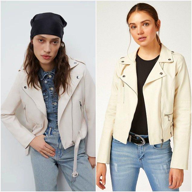 2. Biker ceket Zara'da 400 TL, Trendyol'da sadece 160 TL!