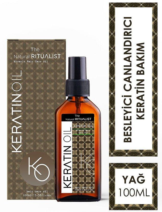 8. The Natural Ritualist Keratin Bakım Yağı aşırı yıpranmış saçlarına ilaç gibi gelecek.
