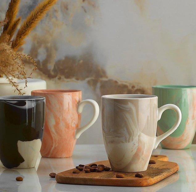 10. En sevilen desenlerin yer aldığı kupa modelleri mutfaklarınıza çok yakışacak. 🤗