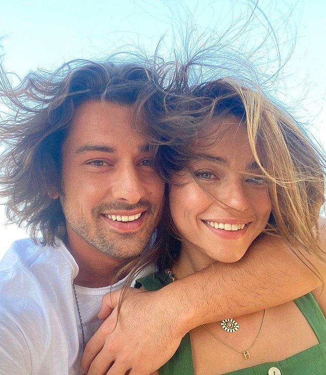 10. 'Ada Masalı' adlı dizide partner olan Ayça Ayşin Turan ve Alp Navruz'un aşk yaşadığı iddia edildi!