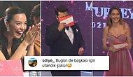 Miss Turkey 2021'de Sunuculuk Yapan Eser Yenenler'in Eşi Berfu Yenenler'in Gafı Geceye Damgasını Vurdu!