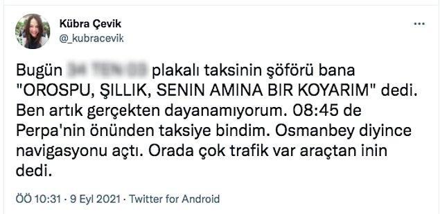 İstanbul'da yaşayan bu kadının başına gelenler taksici terörünün en son örneklerinden. Buyurun kadın arkadaşımızın yaşadığı o rezaleti kendisinden öğrenelim.
