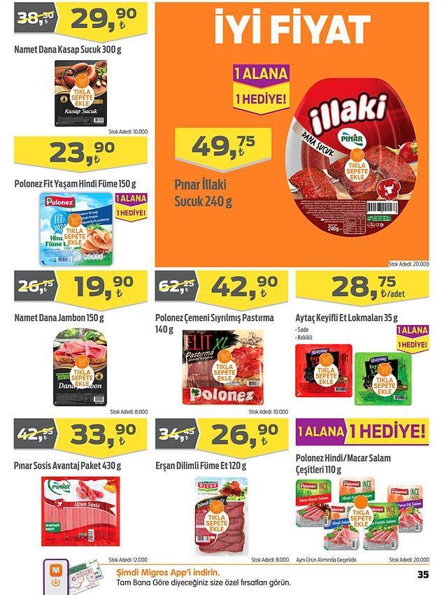 19. Polonez Fit Yaşam XL Hindi Füme (150 g) 23,90 TL. Ayrıca 1 alana 1 bedava kampanyası mevcut.