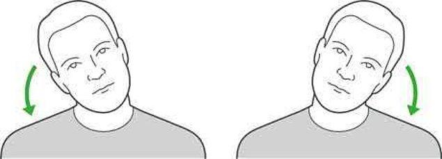 2. Başı bir tarafa eğmek