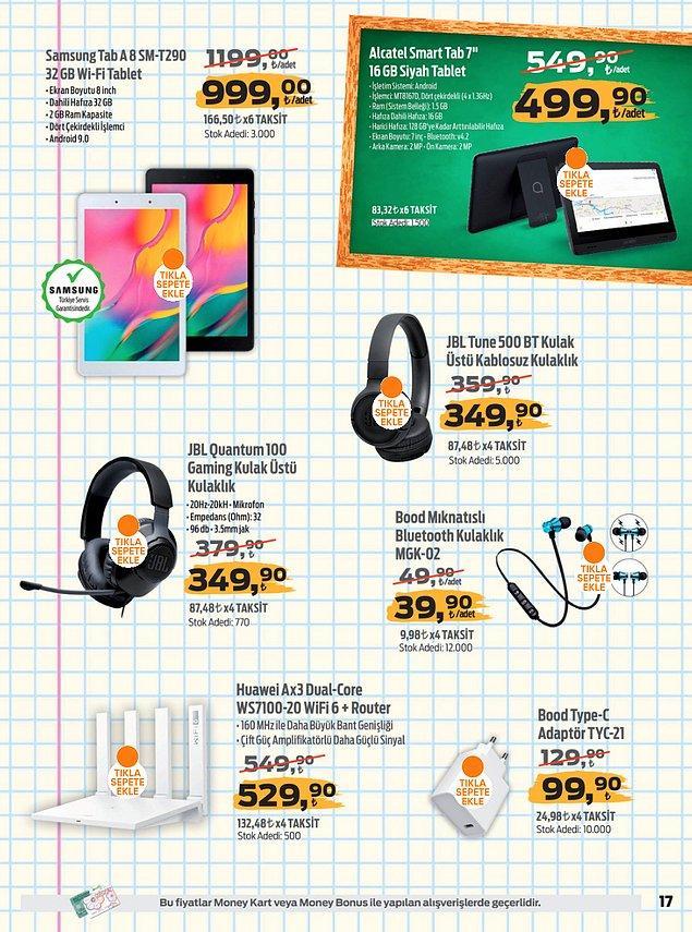 71. Samsung Tab A8 Sm-t290 32 gb Wifi Gümüş Tablet 999,00 TL.