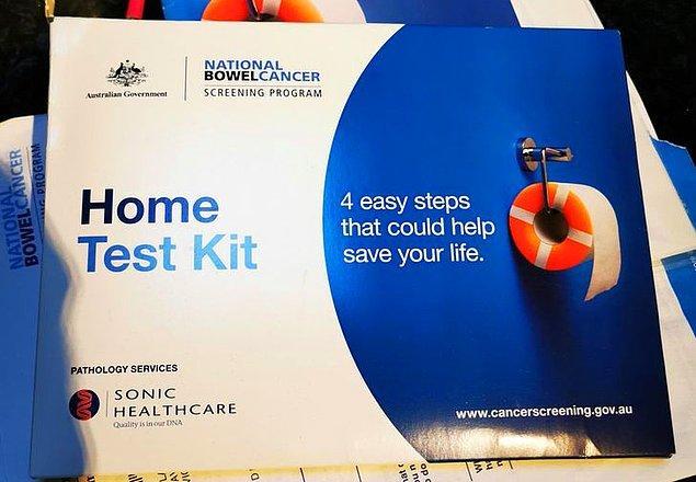 7. Avustralya'da 50 yaşına girdiğinizde hükumet tarafından kolon kanseri test kiti gönderiliyor.