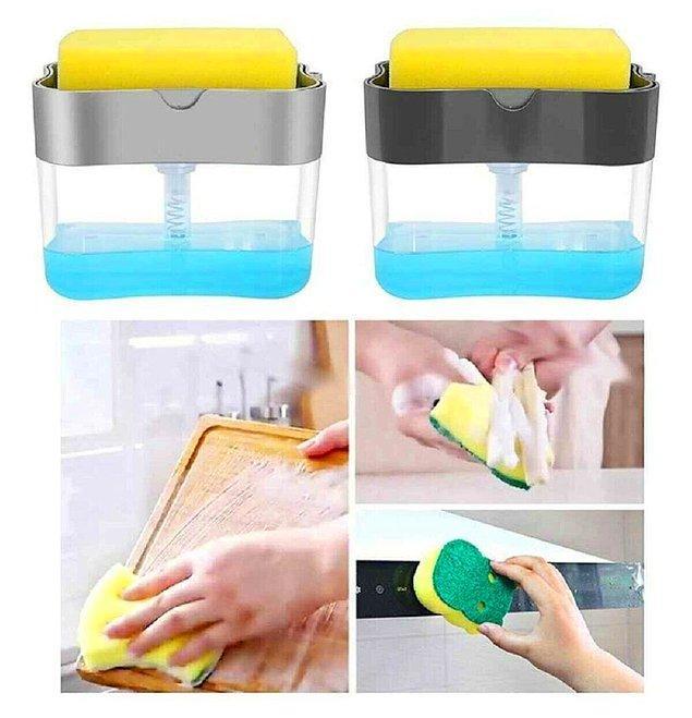 10. Süngere az deterjan dökmeyi beceremeyenleri de böyle alalım.