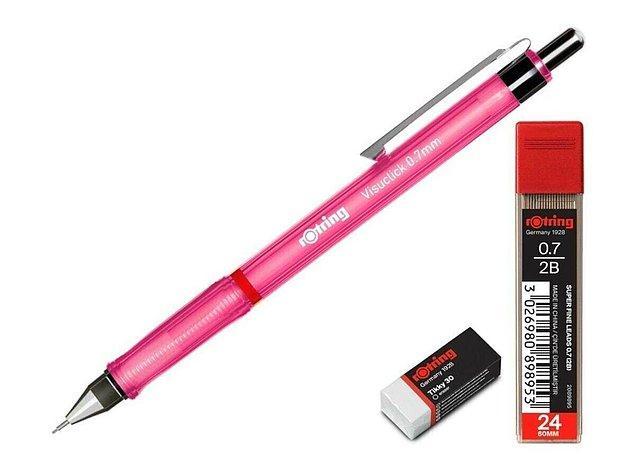 3. Rotring uçlu kalem tercih edenlerin seveceği bir set...