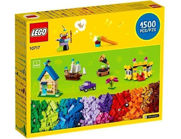 12. Lego sevenlere yap yap bitmeyecek 1500 parça bir Lego.