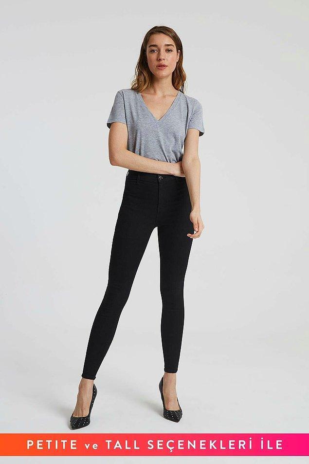 14. Ayak bileklerinizi örten uzunluktaki dar jean pantolonları tercih etmelisiniz...