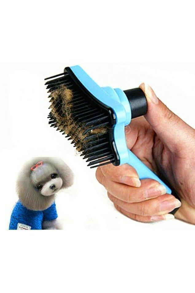9. Bir tuş ile otomatik temizlenen kedi köpek fırçası, temizlik açısından çok pratik bir kullanım sağlıyor.