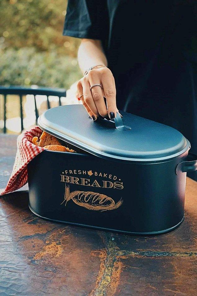 12. Ekmek kutunuz eskidiyse bu yeni moda ekmek kutularına bir bakın.