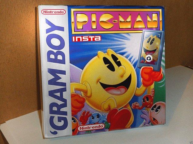 4. Pac-Man Instagram'ın yeni yüzü olmuş ve ortaya Pic-Man çıkmış.