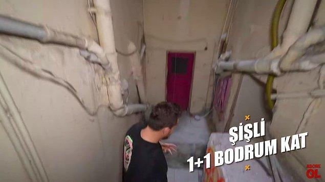Bir diğer ev de Şişli'nin merkezinde bulunan yine bodrum katta bir ev.